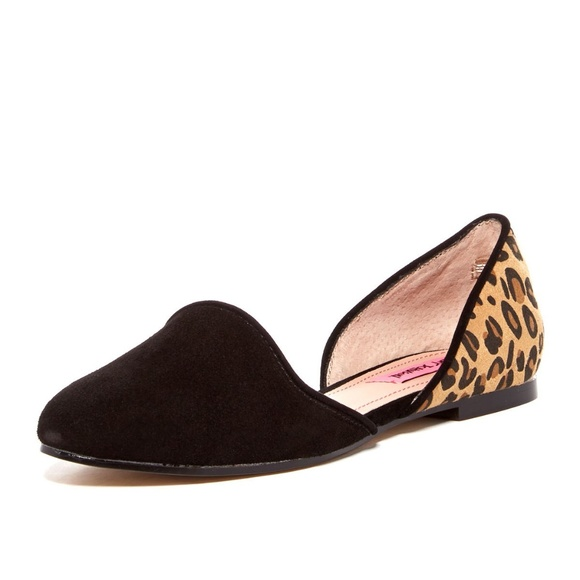 39af086a262 75% off Betsey Johnson Shoes Cocoh Suede Leather Flats Leopard ...